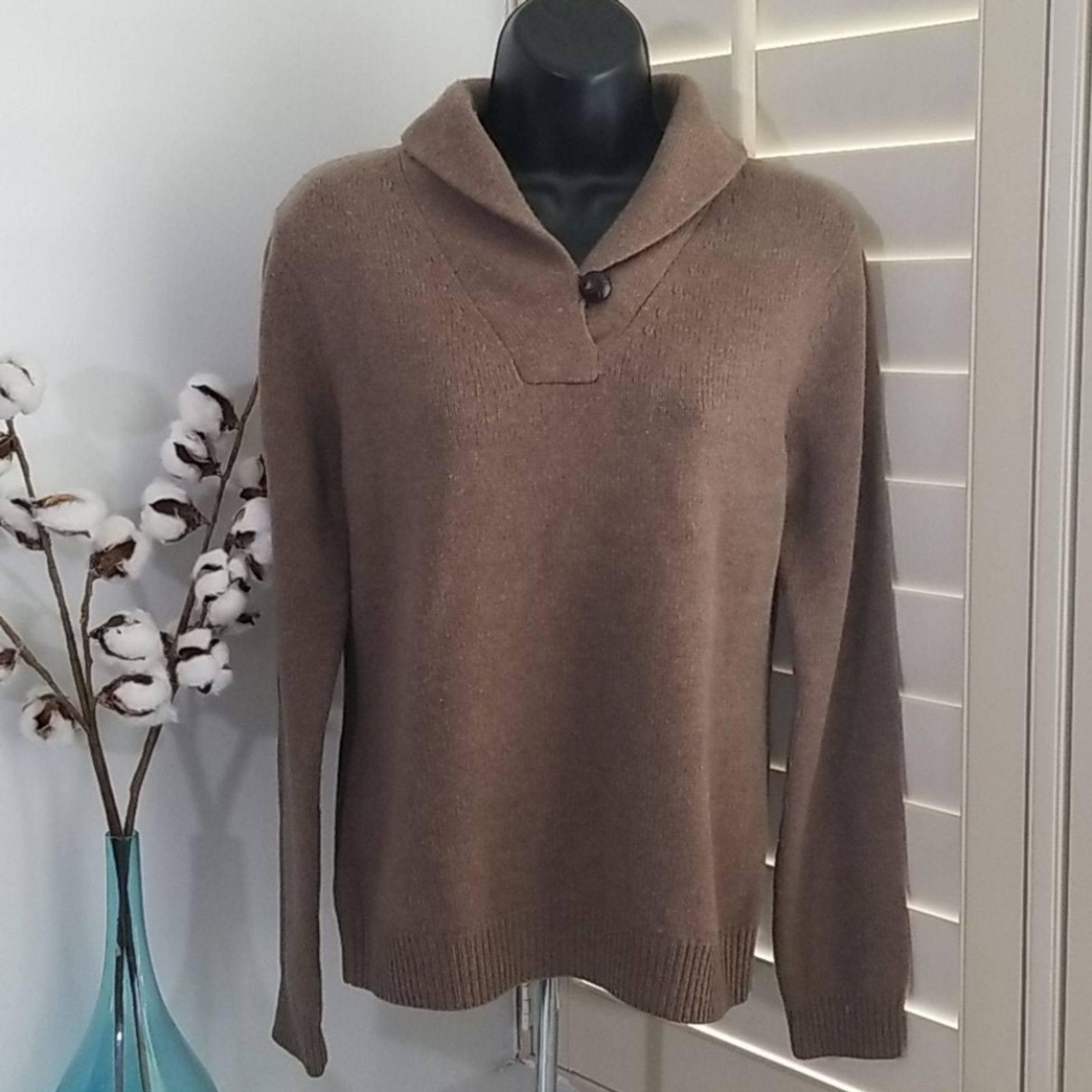 Brooks Brothers Shawl Lambs Wool Sweater