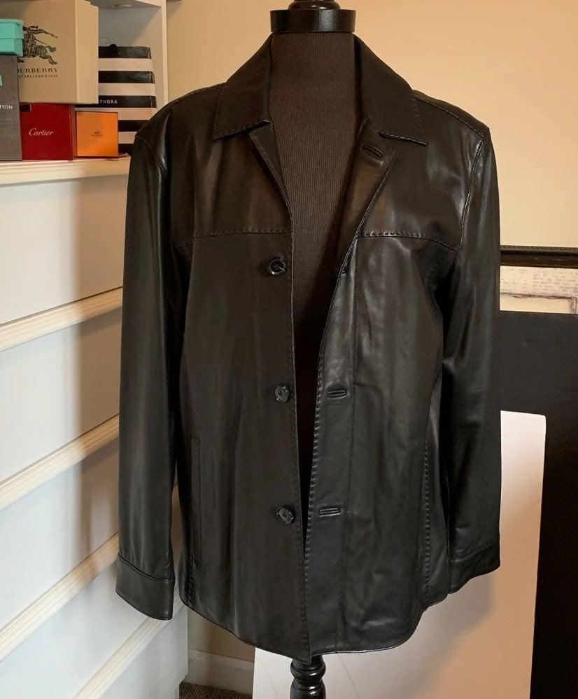 Marc NY Black Leather Jacket NEW
