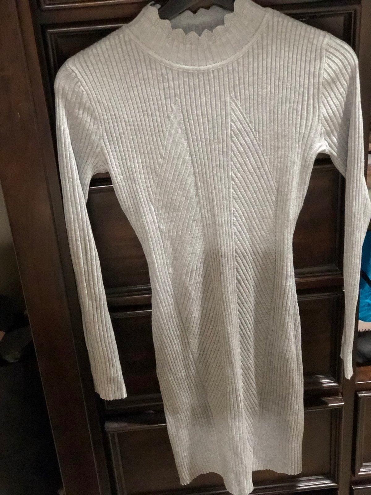 Grey stretch midi dress