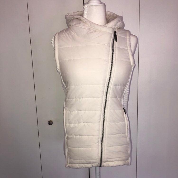 Artisan NY asymmetrical zip puffer vest