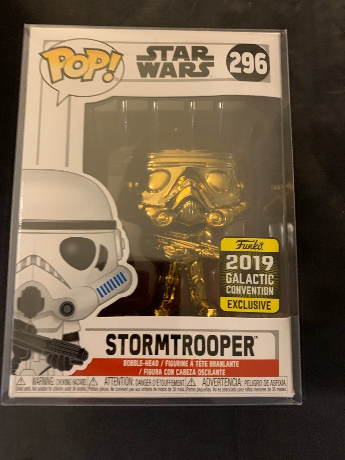 Stormtrooper Gold Chrome Galactic Exc.