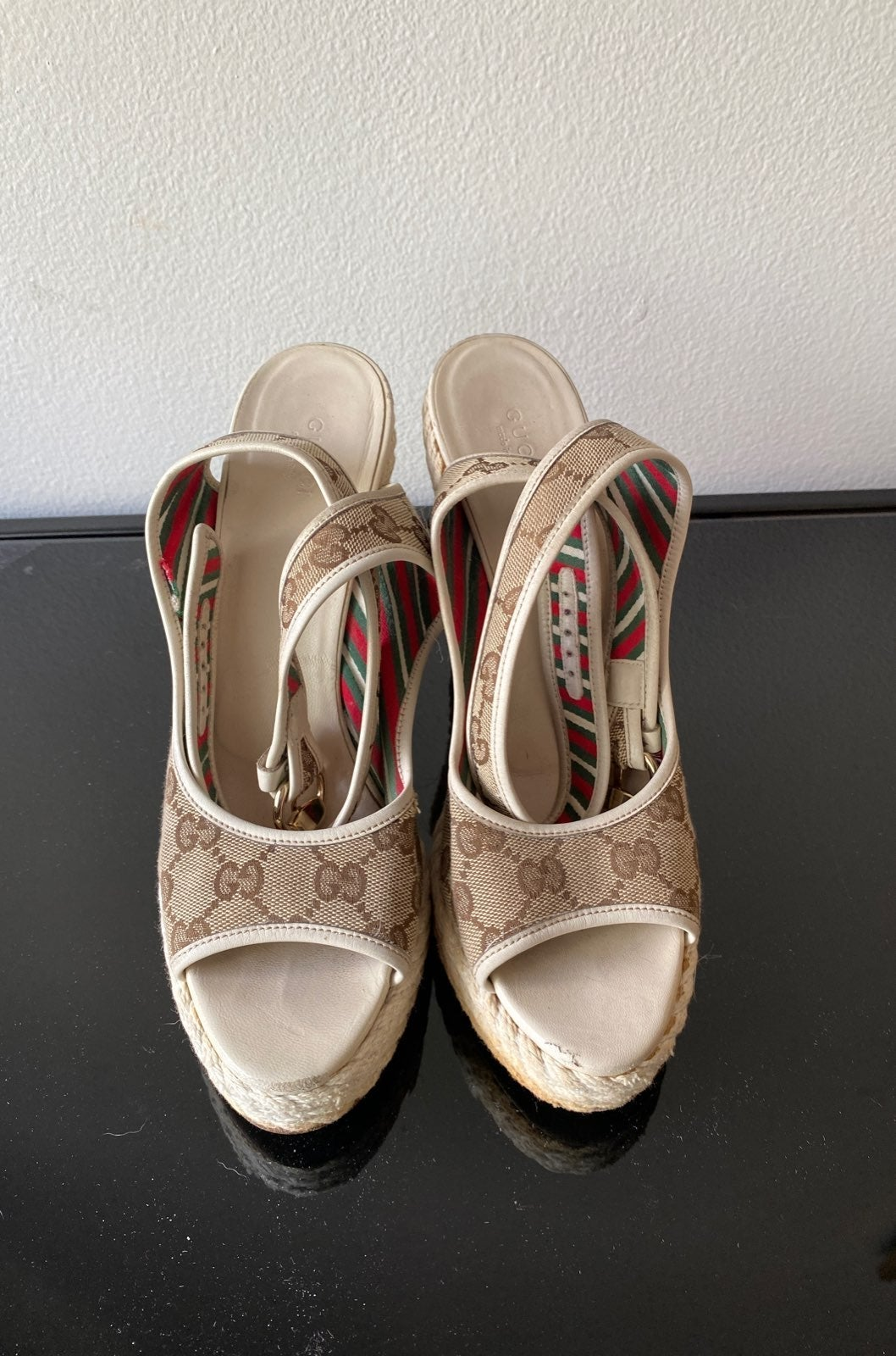 Vintage Gucci rope wedges