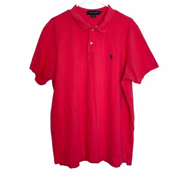 U.S. Polo Assn. Neon Pink Collared Shirt