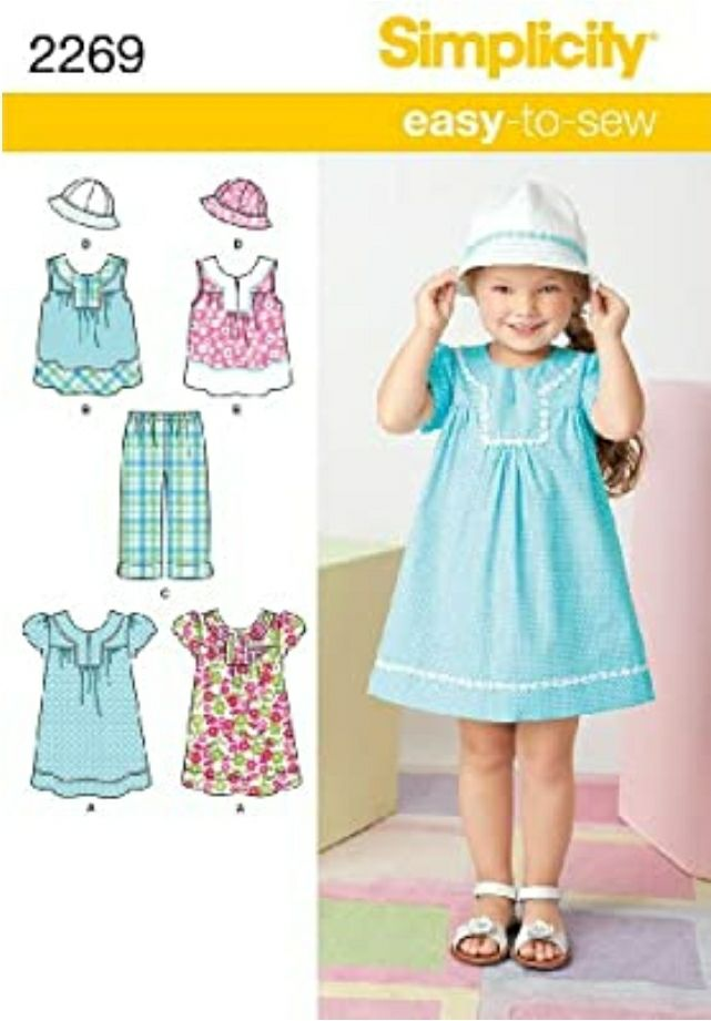 Simplicity Easy-to-Sew Pattern 2269 Girl