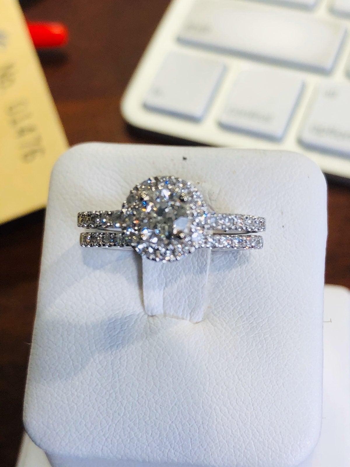 Bridal Set/ Engagement Ring & Band