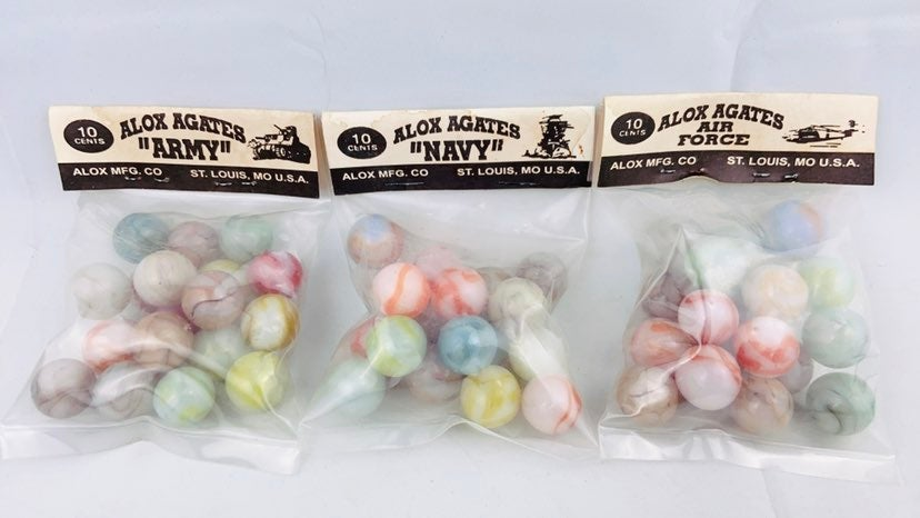 VTG Marbles Army Navy Air Force 3sets