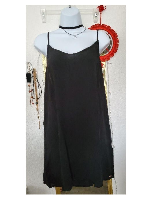 New PINK Slip Dress Coverup Black L