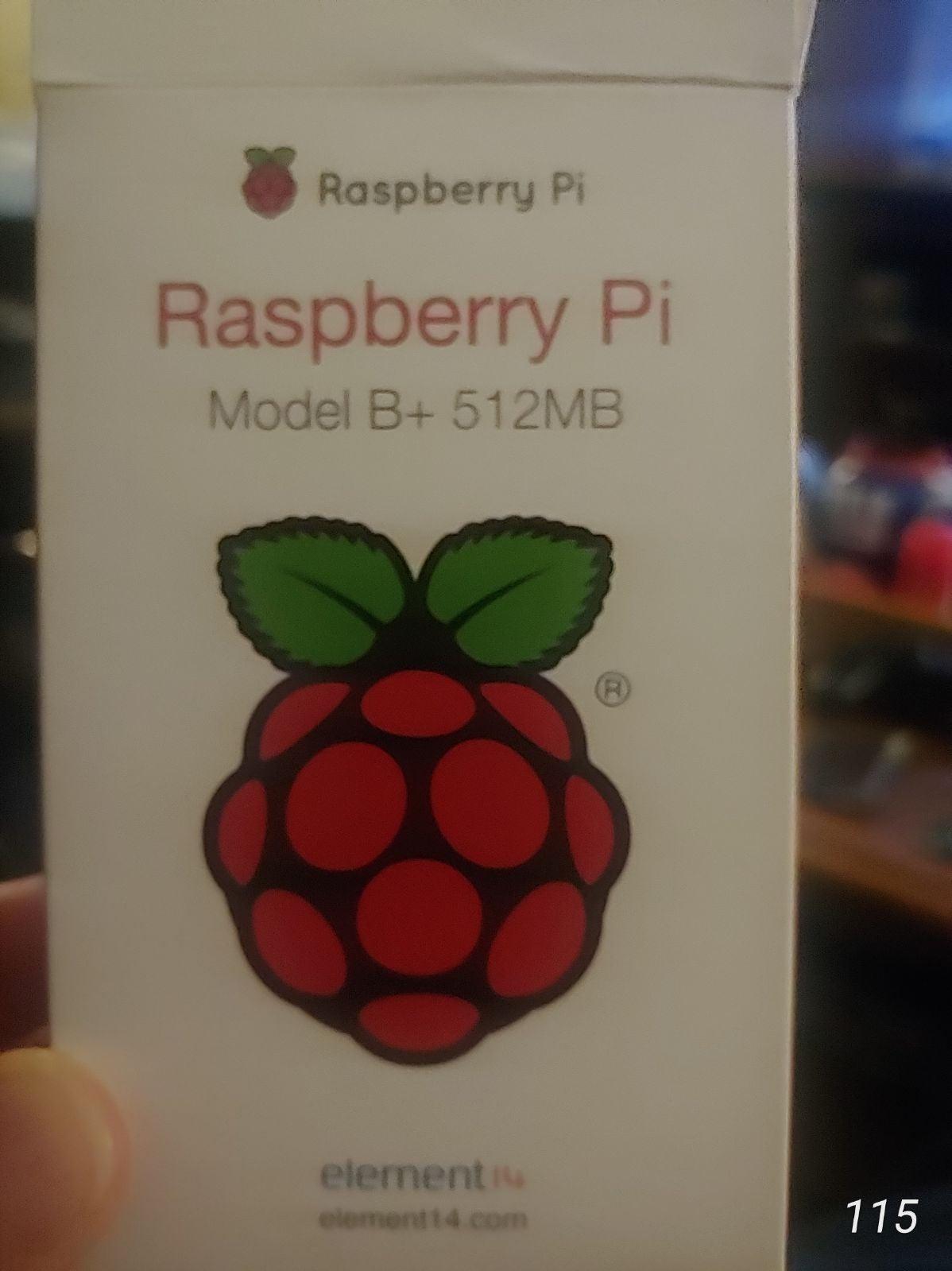 RASPBERRY PI MODEL B+ 512MB RAM, CAMERA,