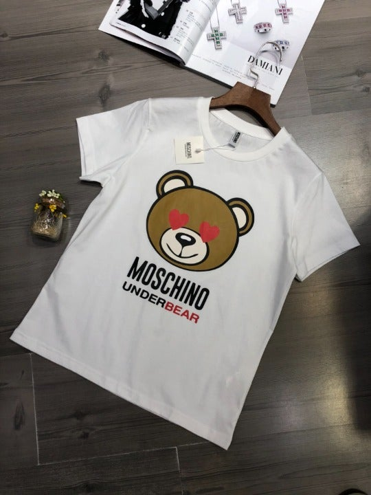 Moschino T-Shirt with Lovely Bear Cartoo