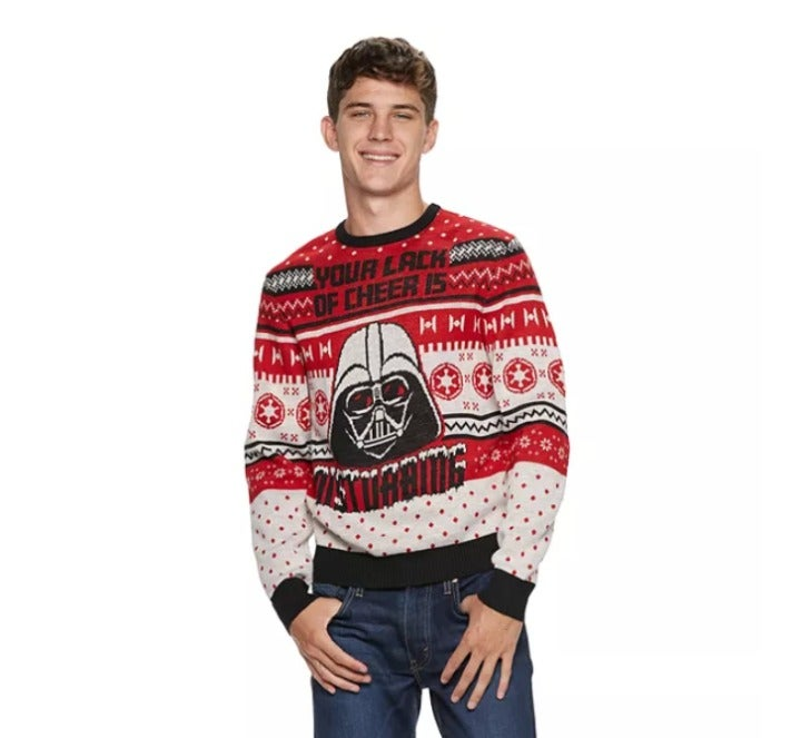 Ugly Christmas Sweater Star Wars Cheer L