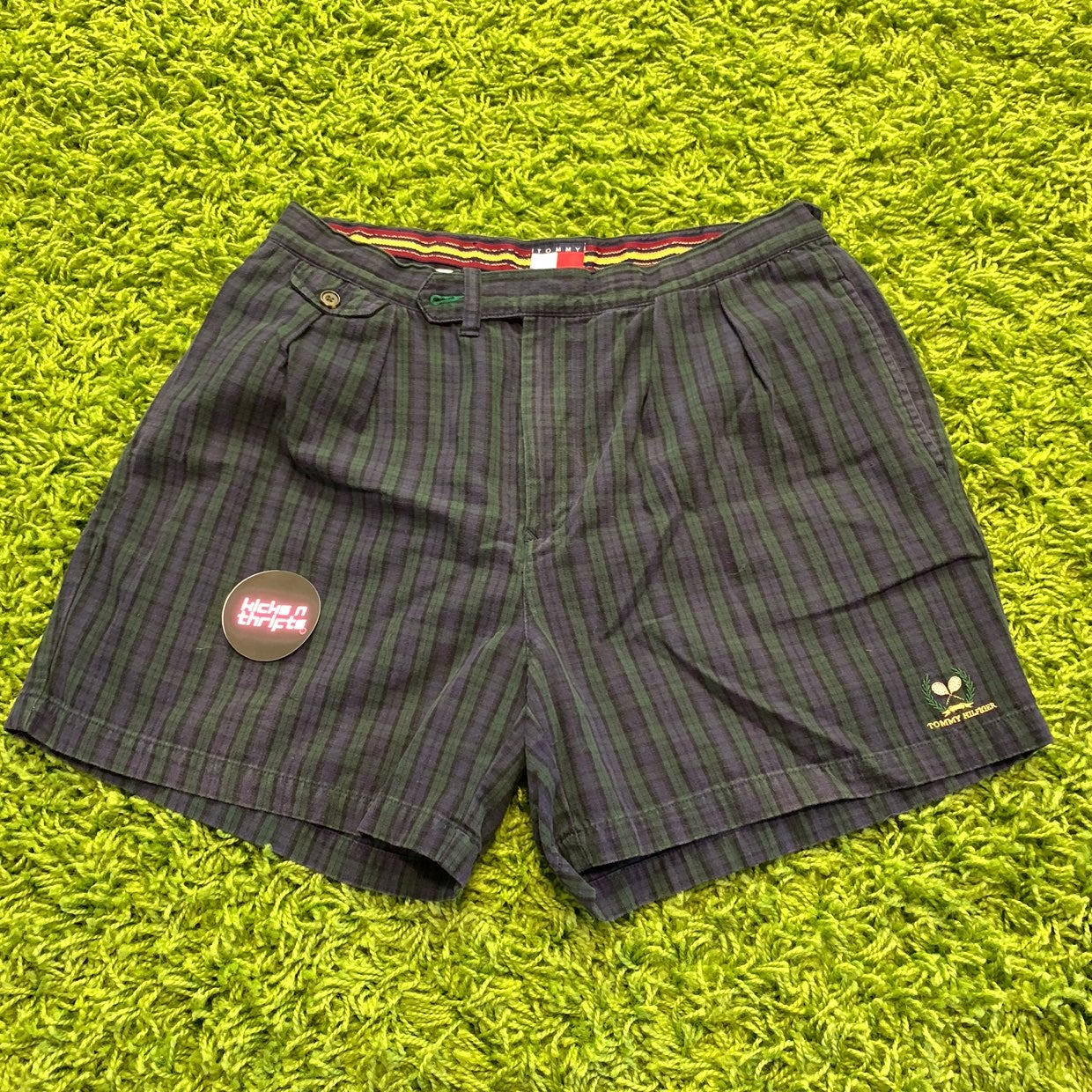 Vintage Blue Plaid Tommy Hilfiger Shorts