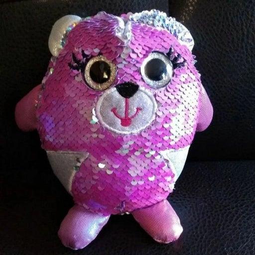 Cra Z Art sequins plush stuffed toy cat