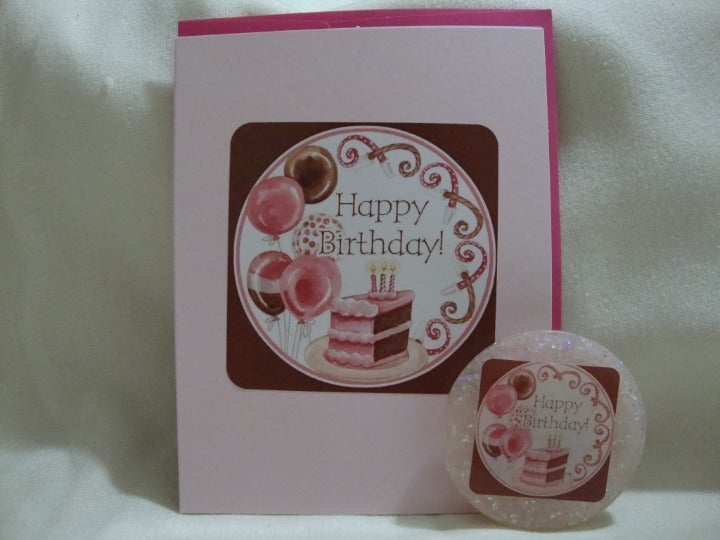 Happy Birthday magnet with card (102)