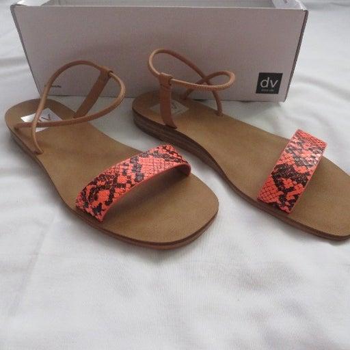 DV by Dolce Vita Coral Snakeskin Sandals