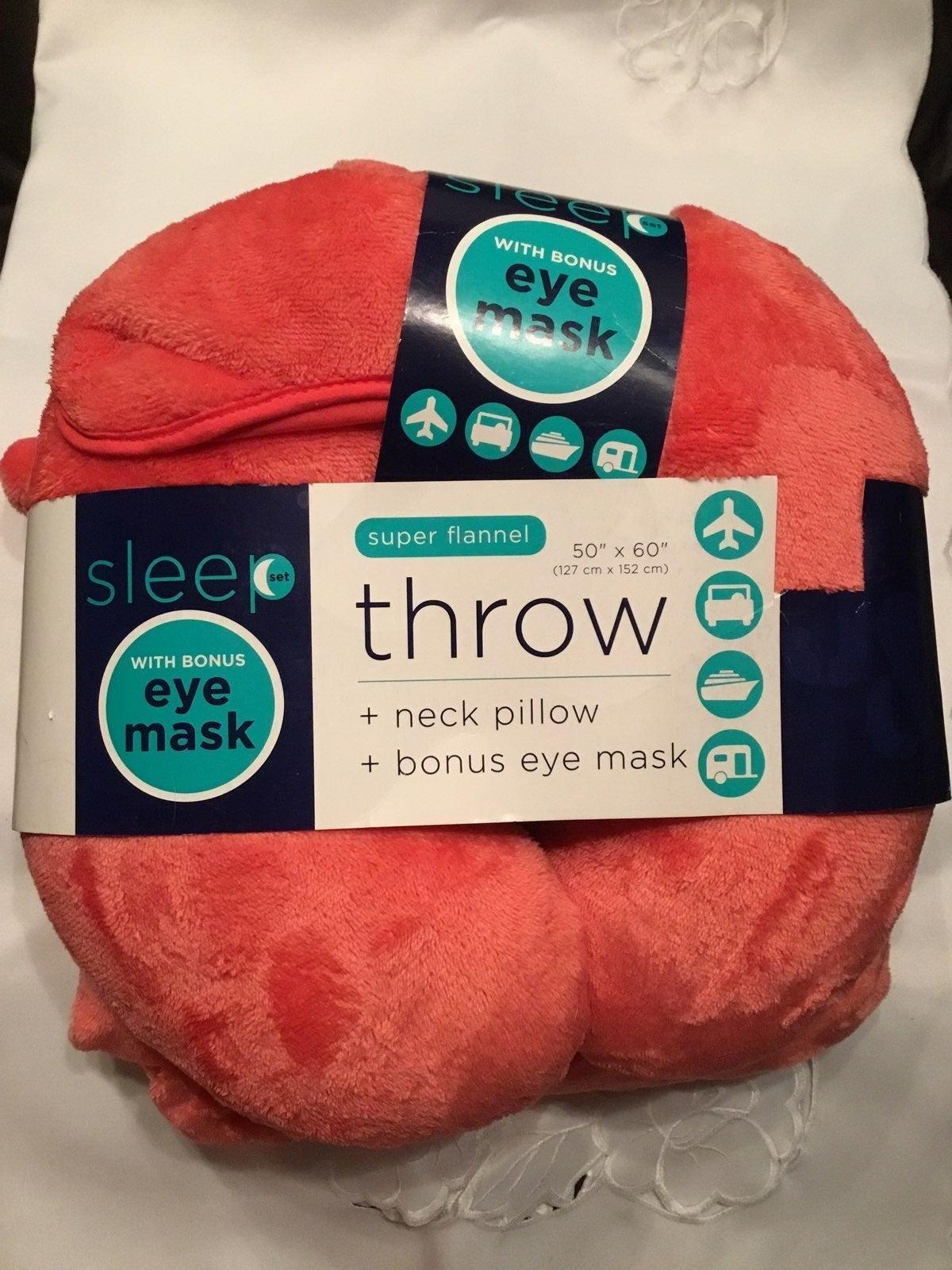 Sleep Pillow Set W/Bonus Eye Mask