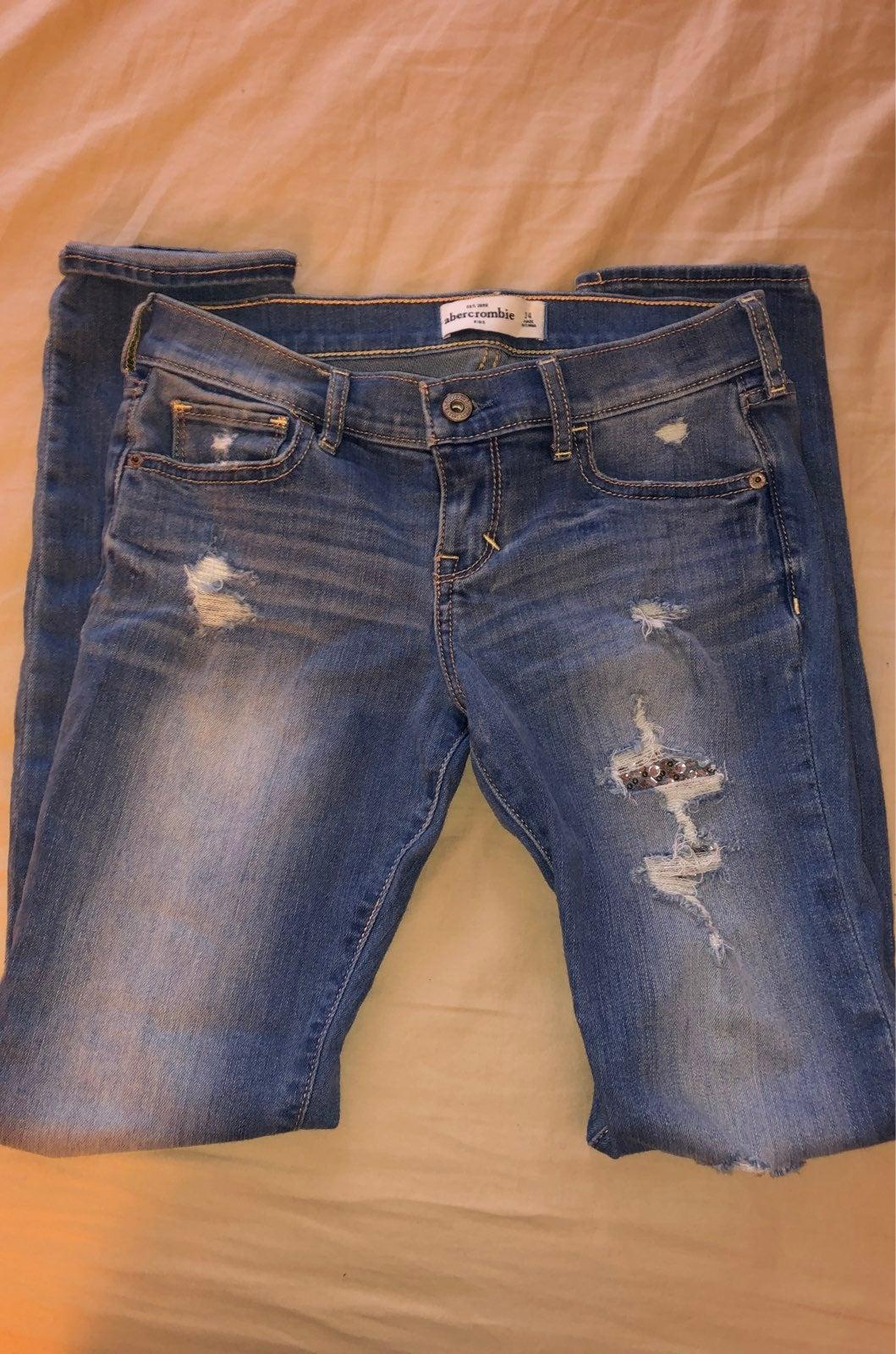Abercrombie kids jeans sz 14