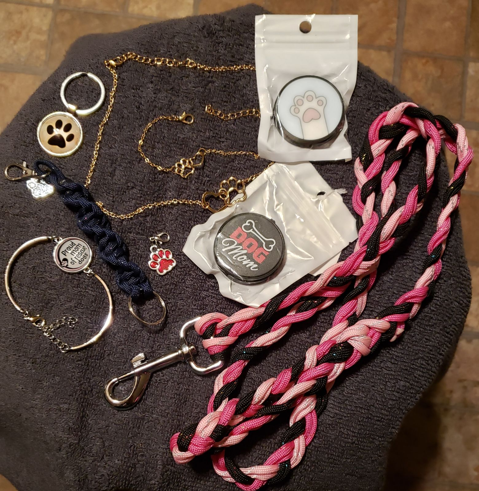 9 Pc Dog Mom Lot of Jewelry & More, NWOT