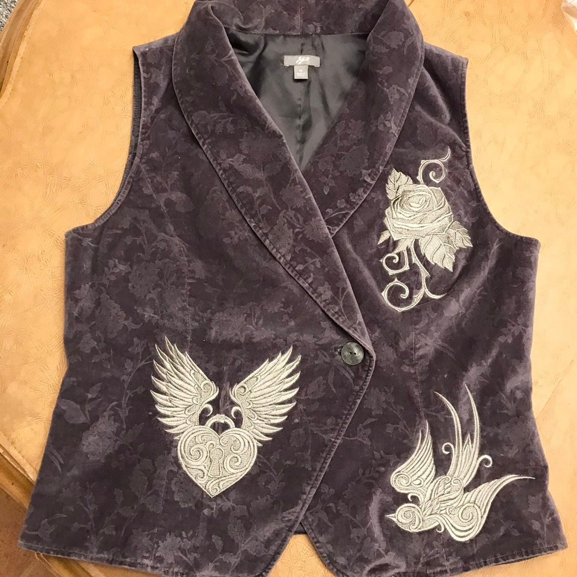 J Jill Vest, w Punk embroidery