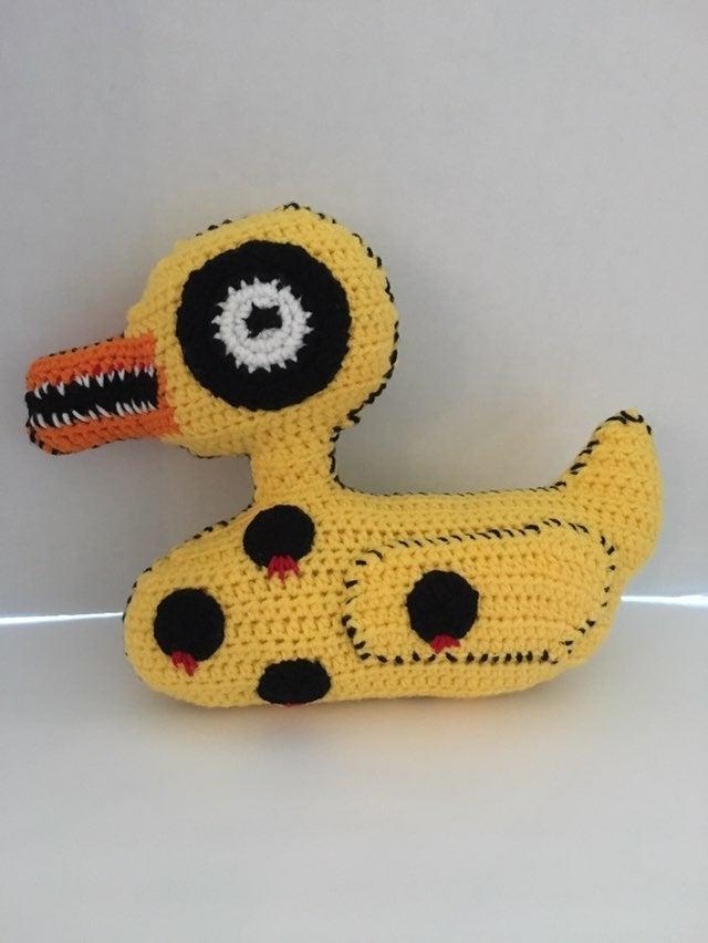 "Crocheted 13"" Undead Duck"