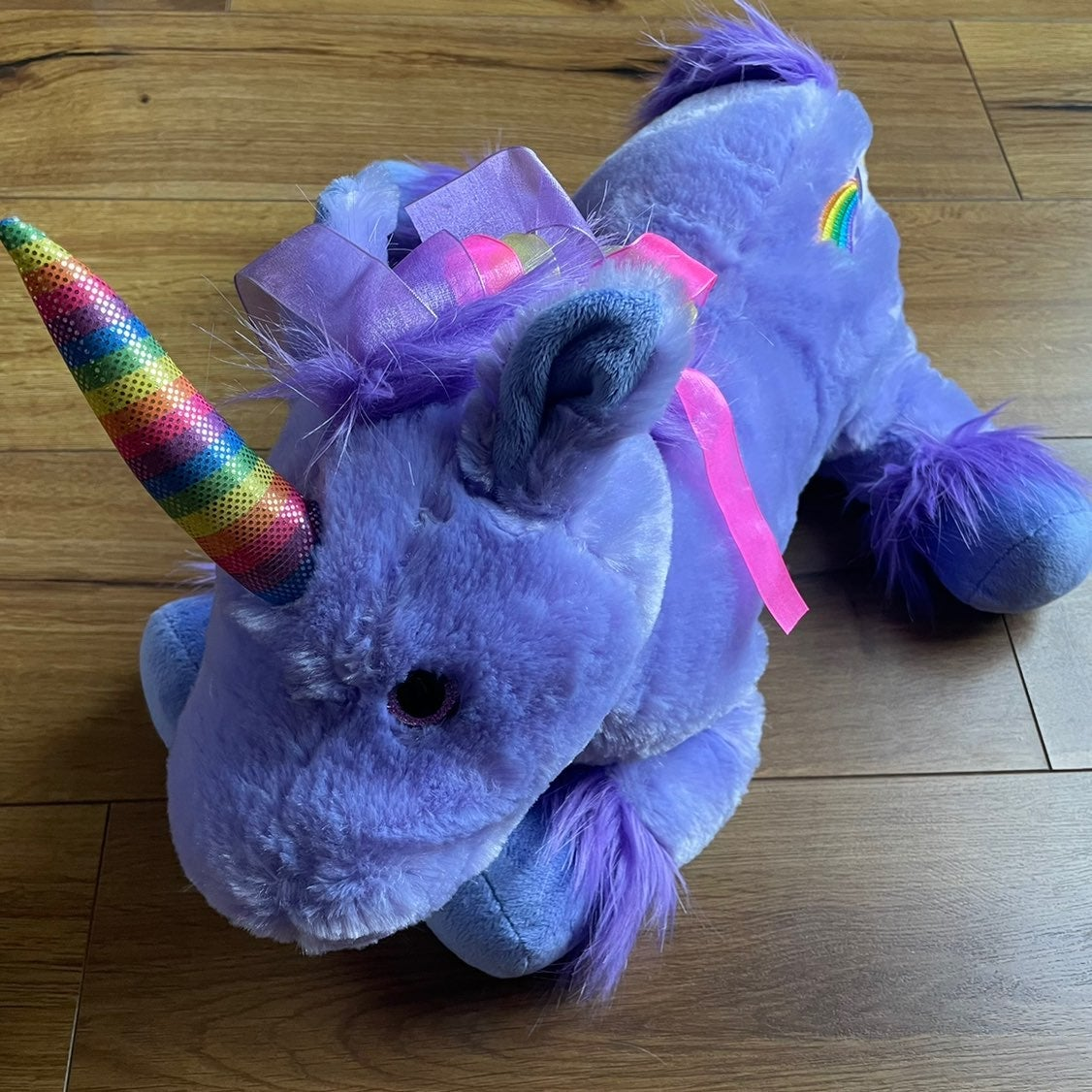 Toys R Us Purple Unicorn Plush