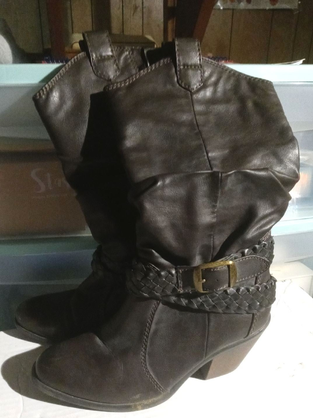 Faded Glory Slouch Boots size 6.5
