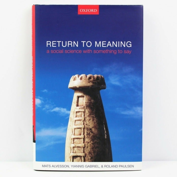 Return to Meaning: A Social Science Book