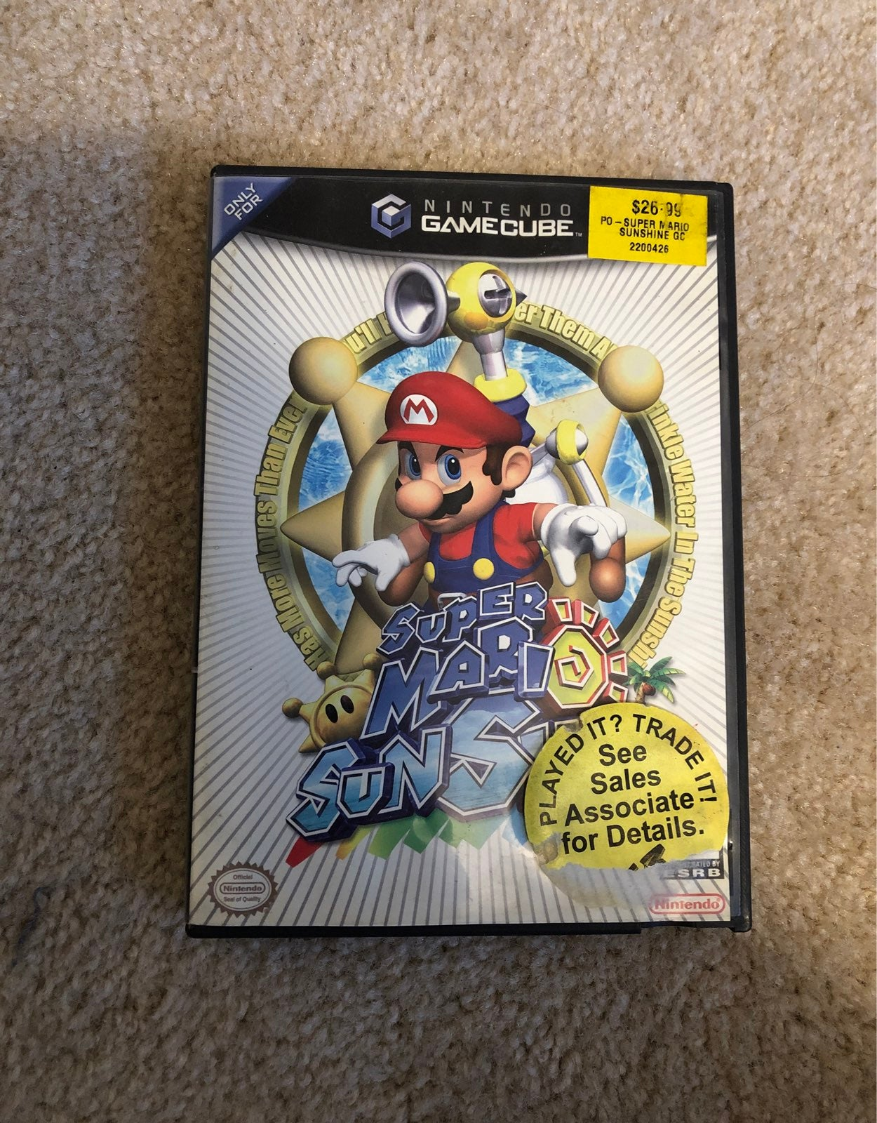 Super Mario Sunshine on Nintendo GameCub