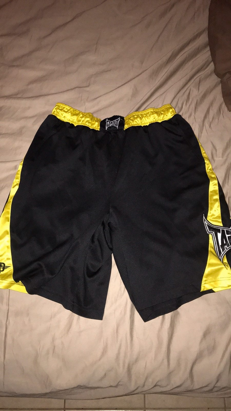 Vintage Golden Yellow Tapout Shorts