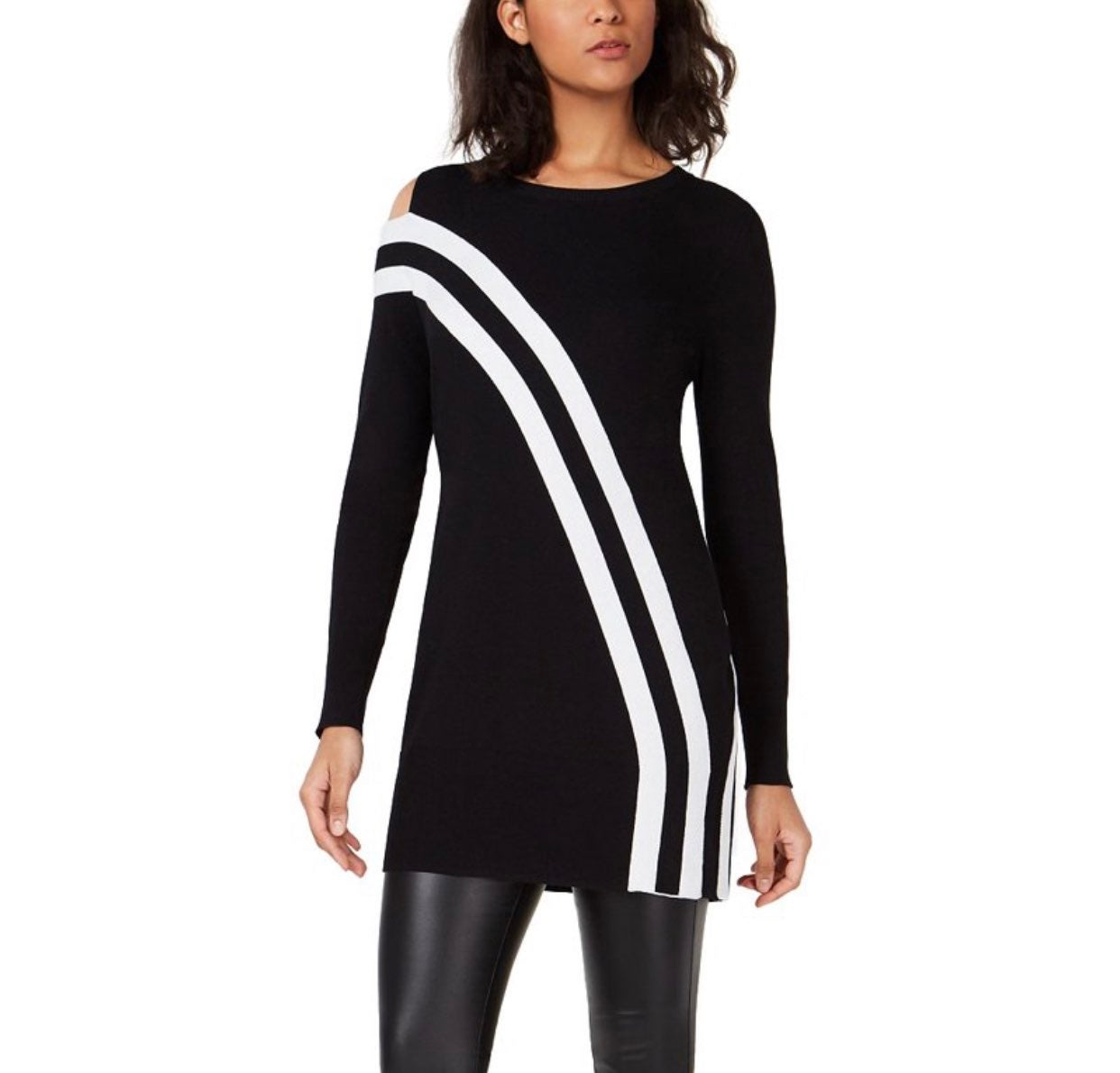 Macy's Bar III Striped Tunic Top