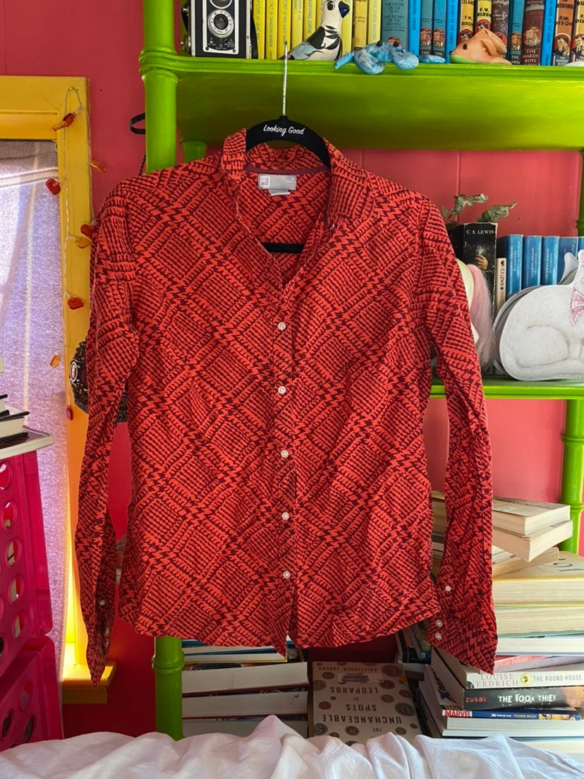 funky button up blouse