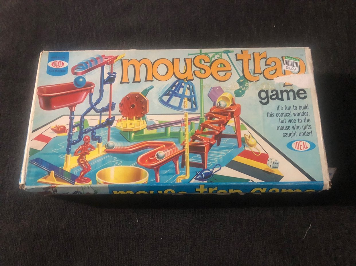 Vintage 1975 Ideal Mouse Trap Board Game