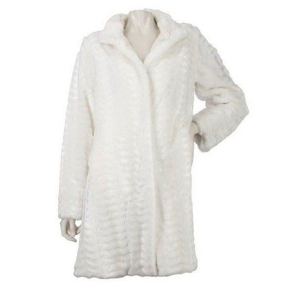 Dennis Basso Textured Faux Fur Coat 3X