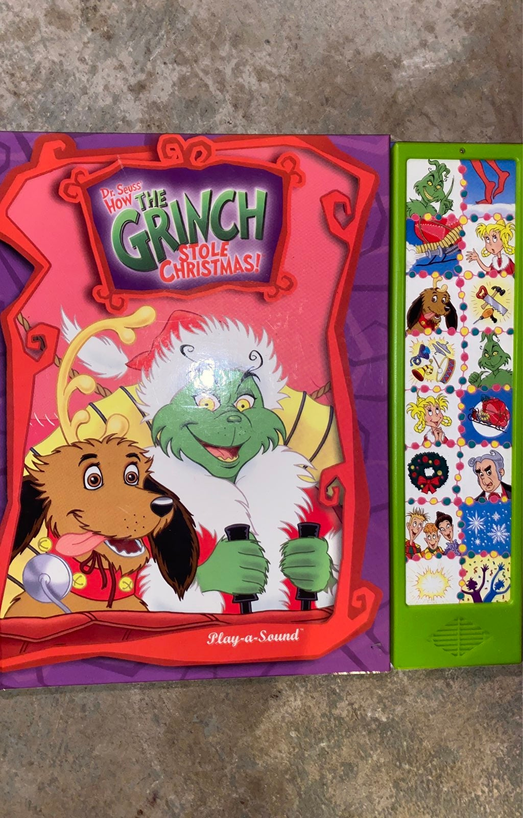 Play a sound Grinch Stole Christmas