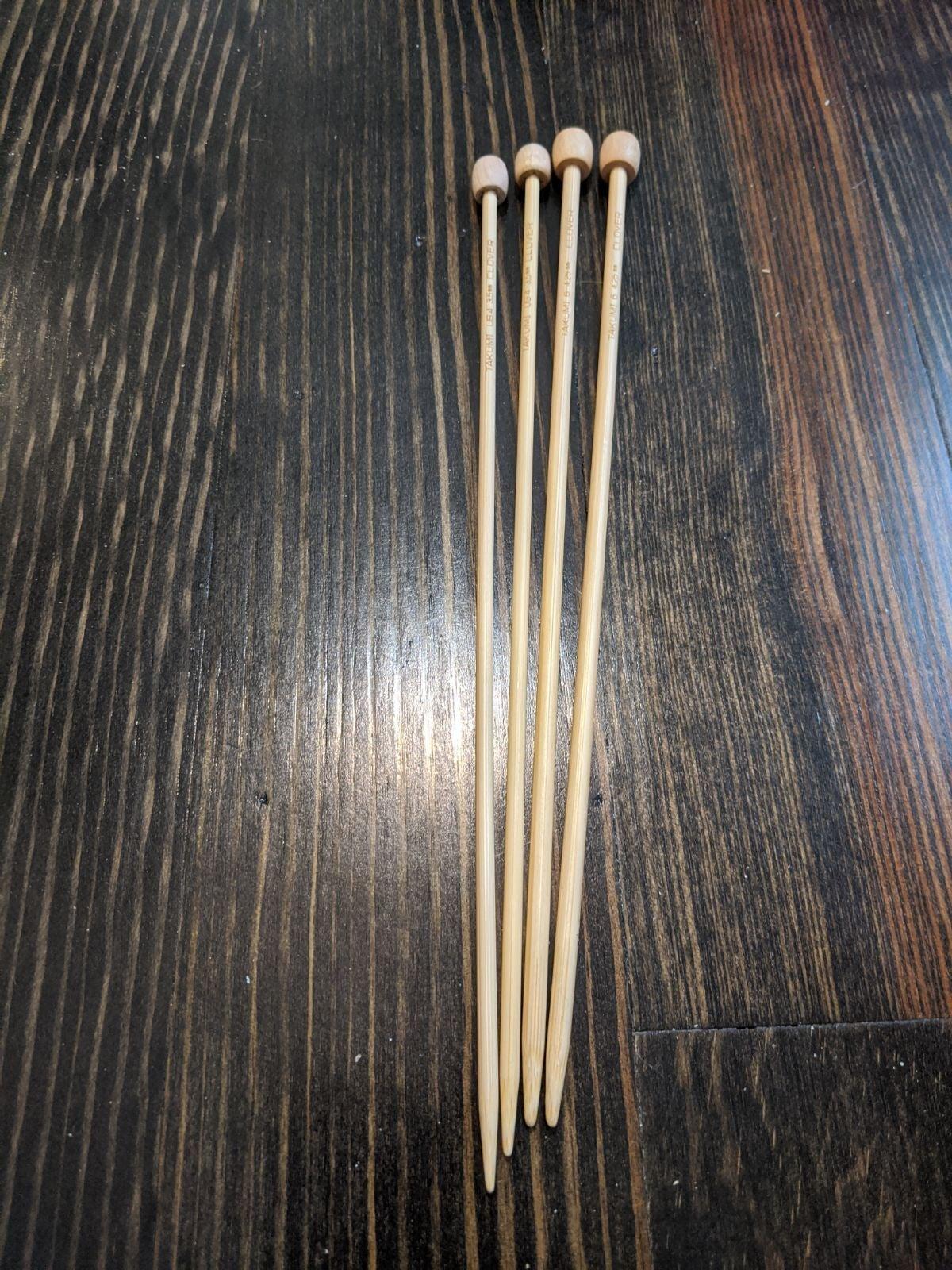 Sizes 6/4 clover takumi knitting needles