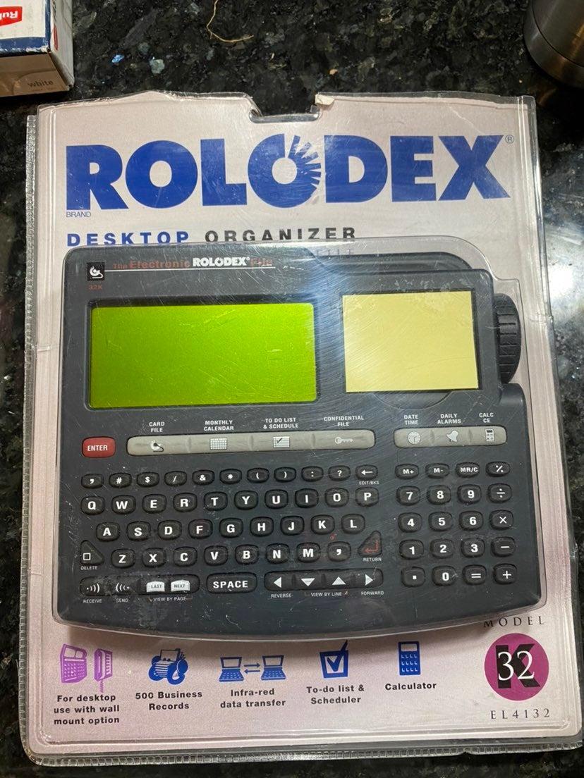 Electronic Rolodex File EL-4132 Vintage