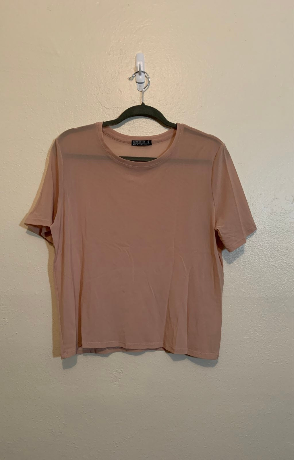 Pink Cotton On Sheer Top