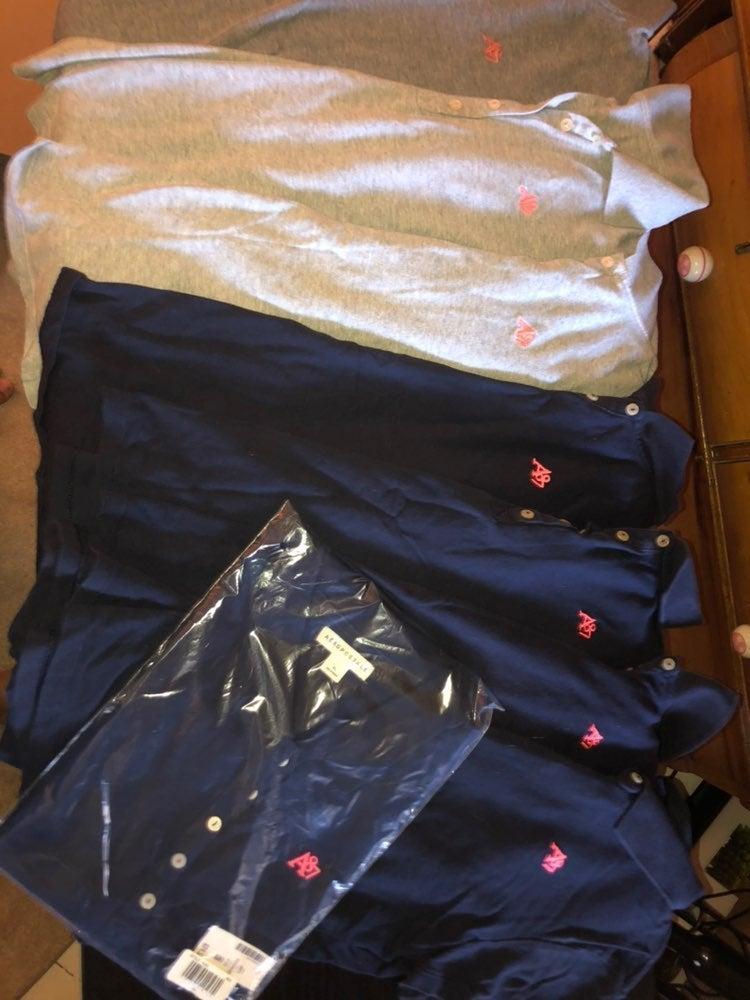 Aeropostale school uniform 8 polo bundle
