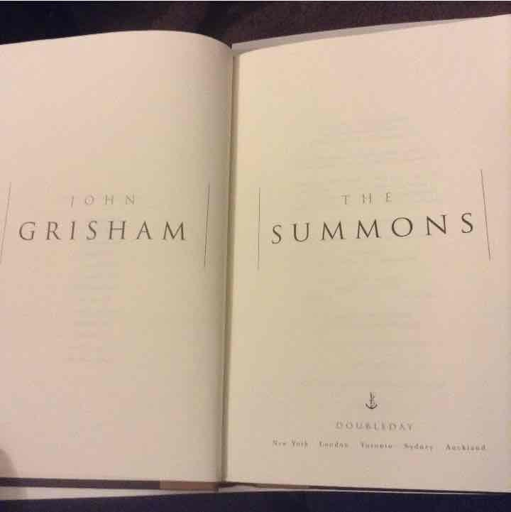John Grisham The Summons