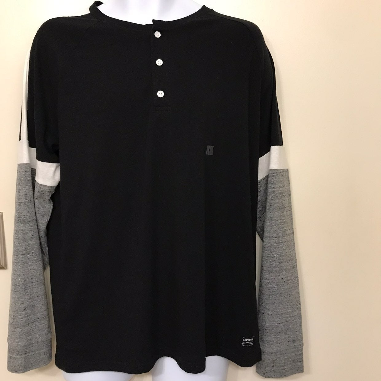 Express Long Sleeve Henley Shirt