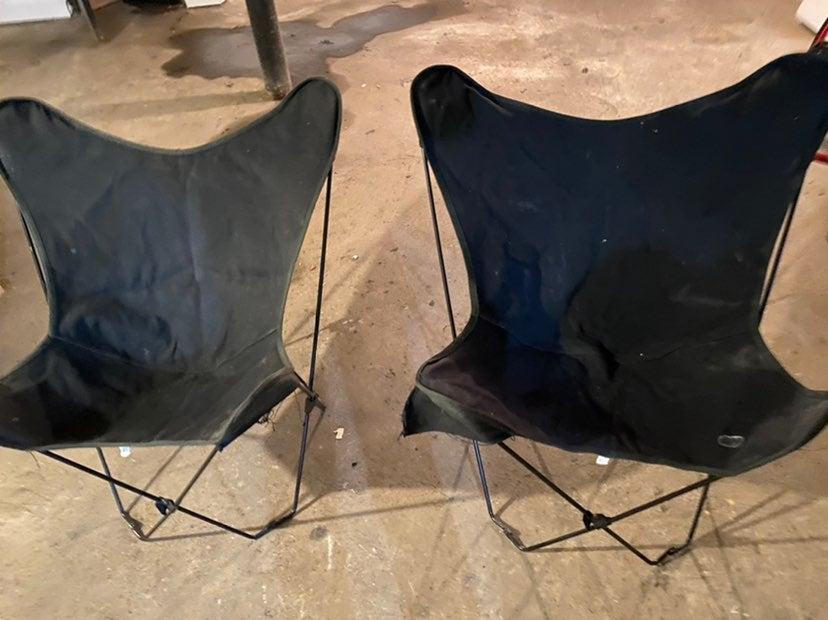 Vintage patio metal chairs