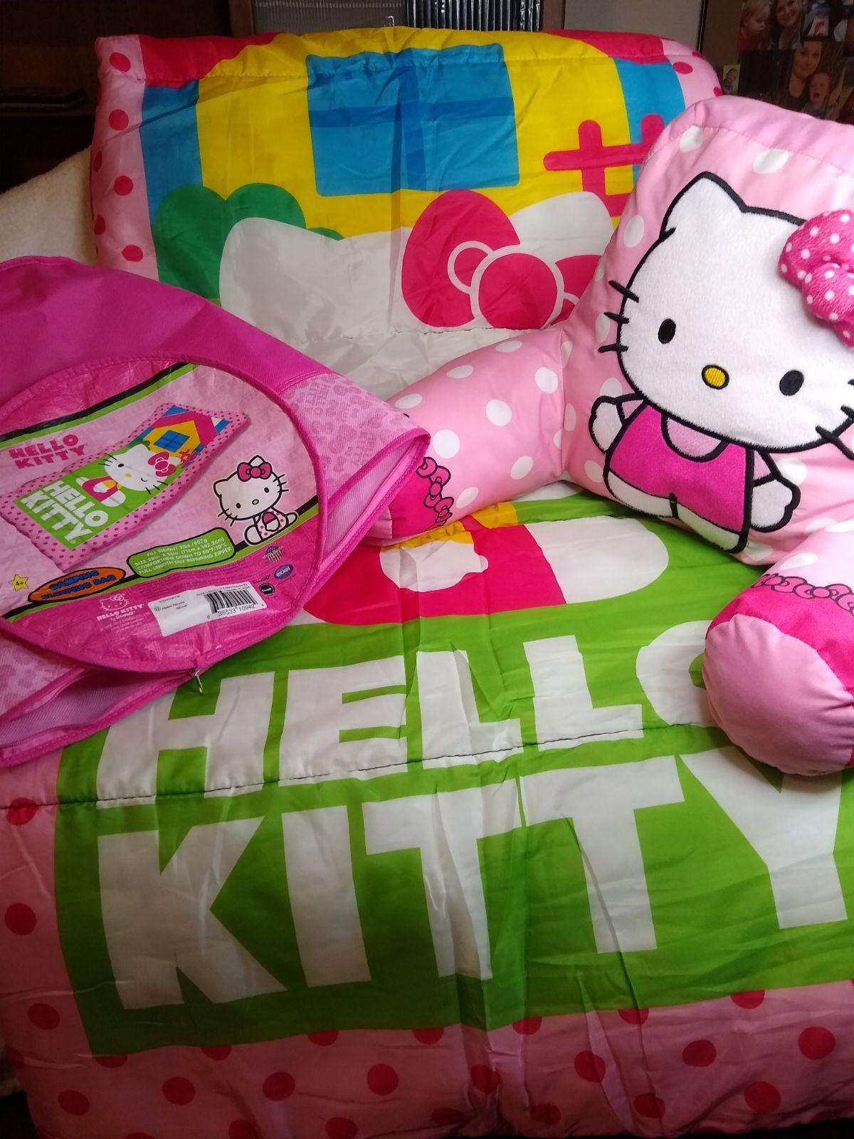 Hello Kitty Sleeping Bag & Bed Pillow