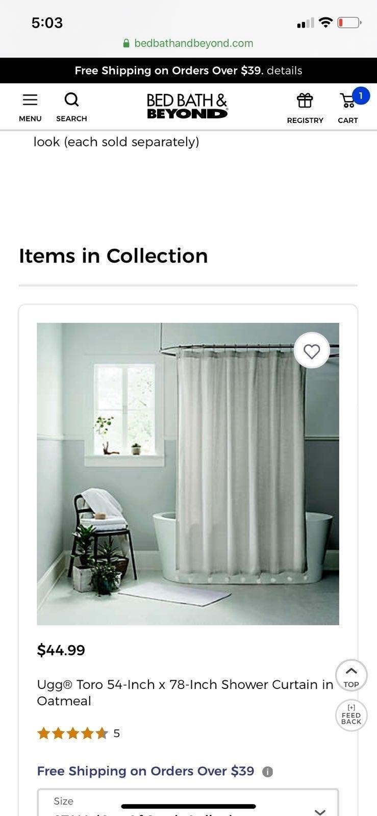 NEW Toro Ugg shower curtain