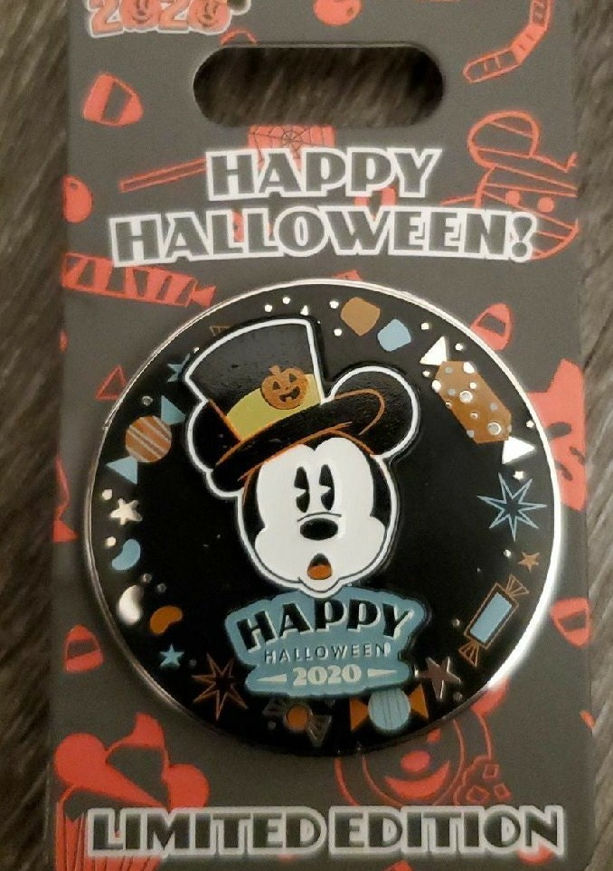 Mickey Mouse Spinner Halloween Pin