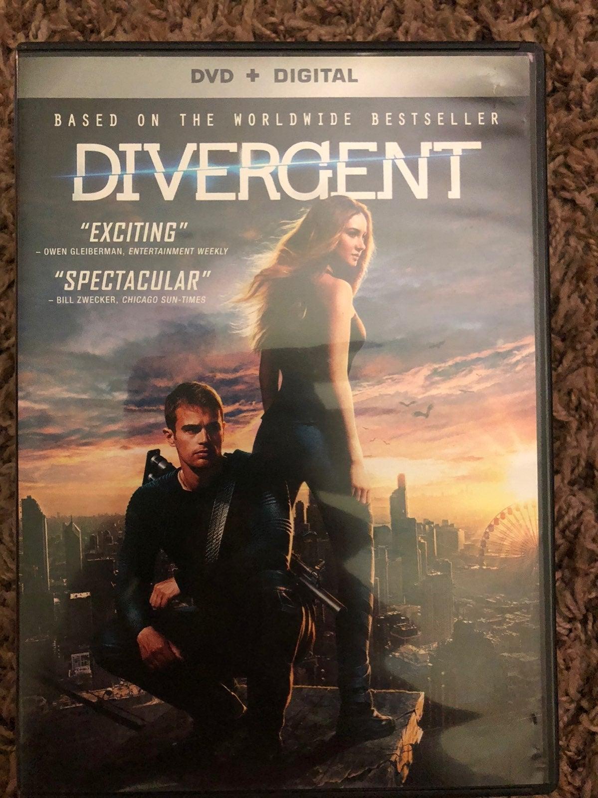 Divergent DVD movie series all 3
