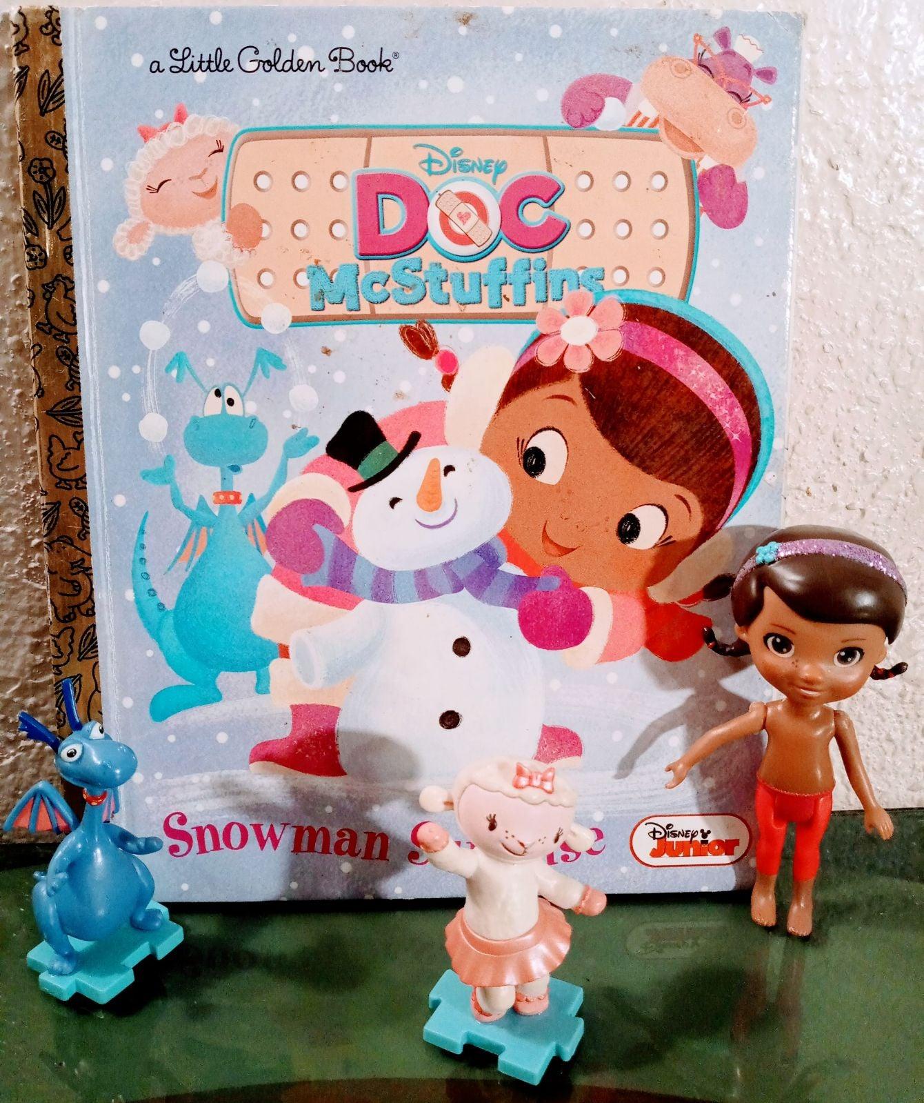 Doc Mcstuffins book & figurines