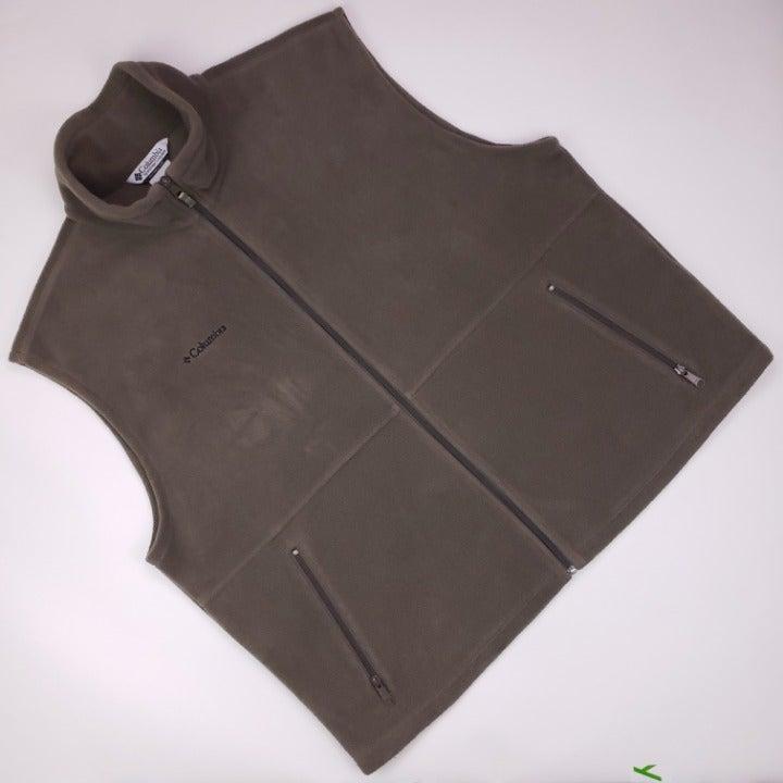 Columbia 2XL Fleece Vest Olive Green Men