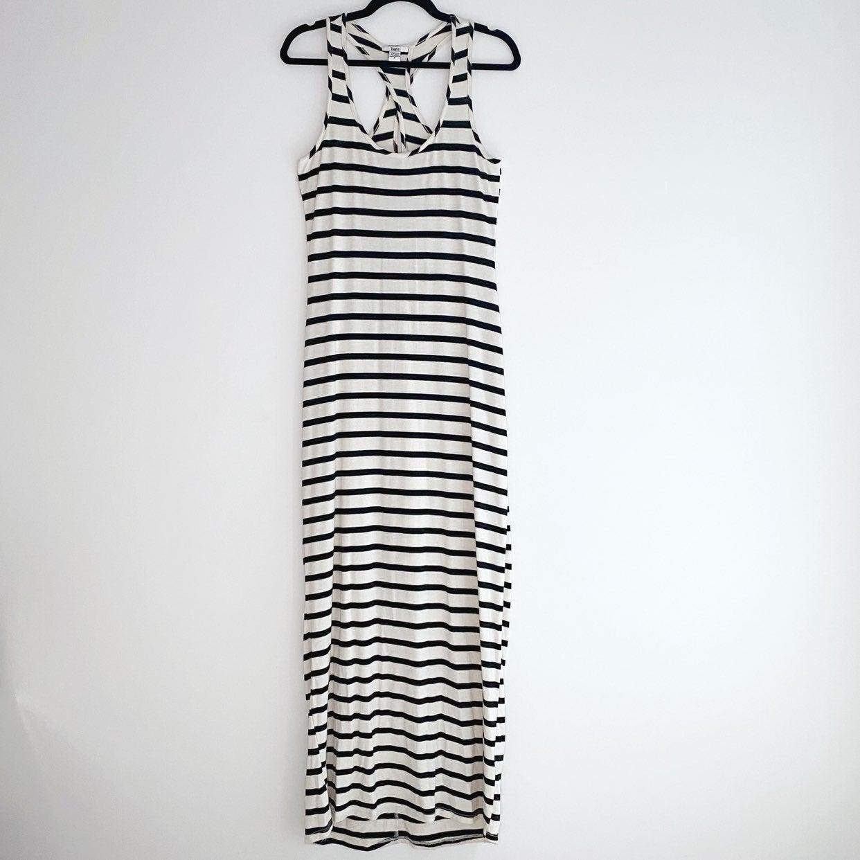 Bar III Striped Maxi Dress Size S