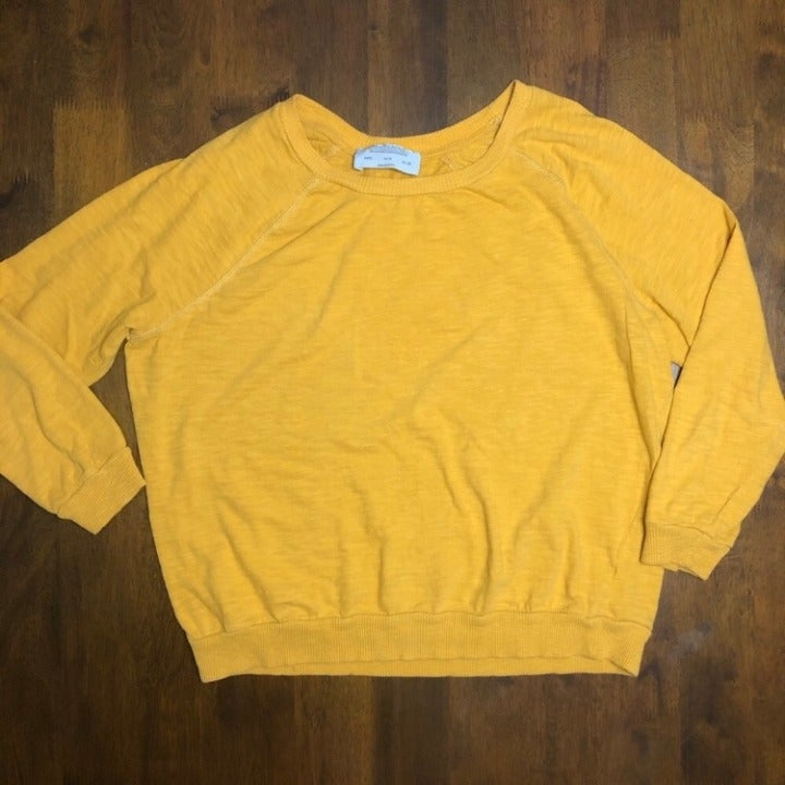 Zara Trafaluc Mustard Crop Sweater
