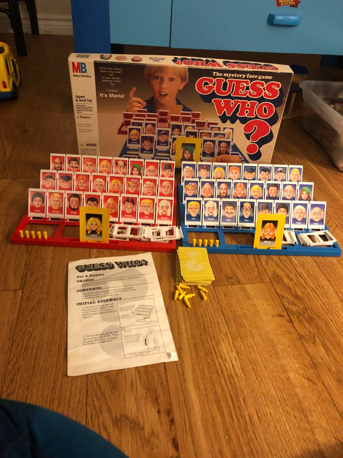 Vintage Guess Who Board Game Complete