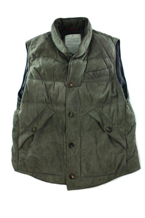 BRUNELLO CUCINELLI Men's Suede Gray Vest